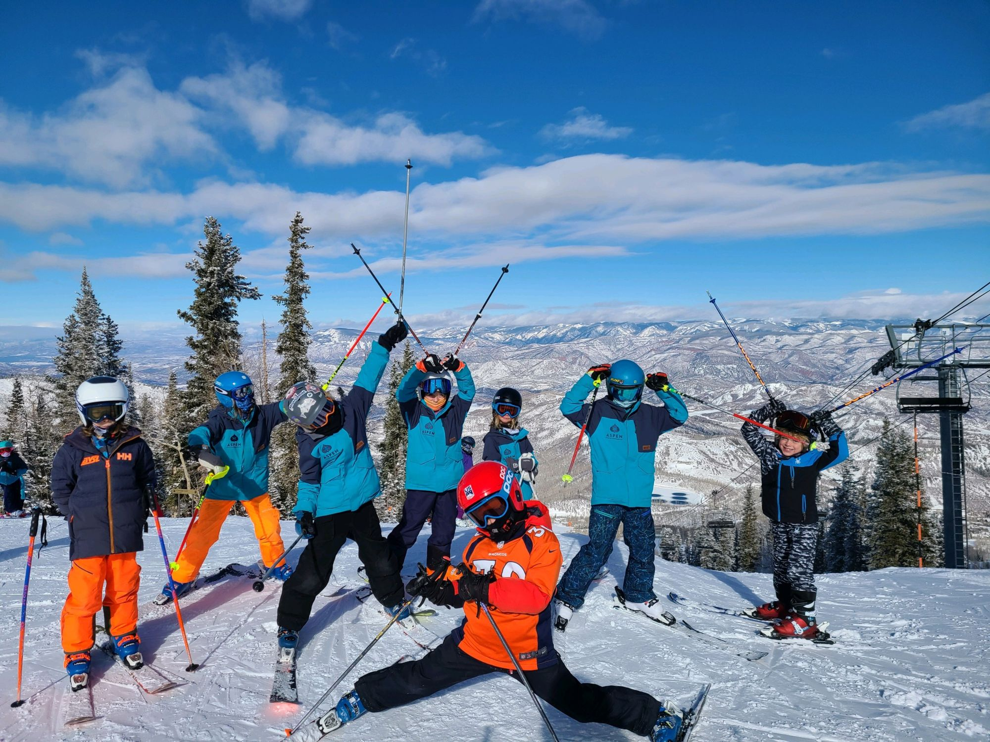 AVSC Alpine ski racers on Aspen Mountain