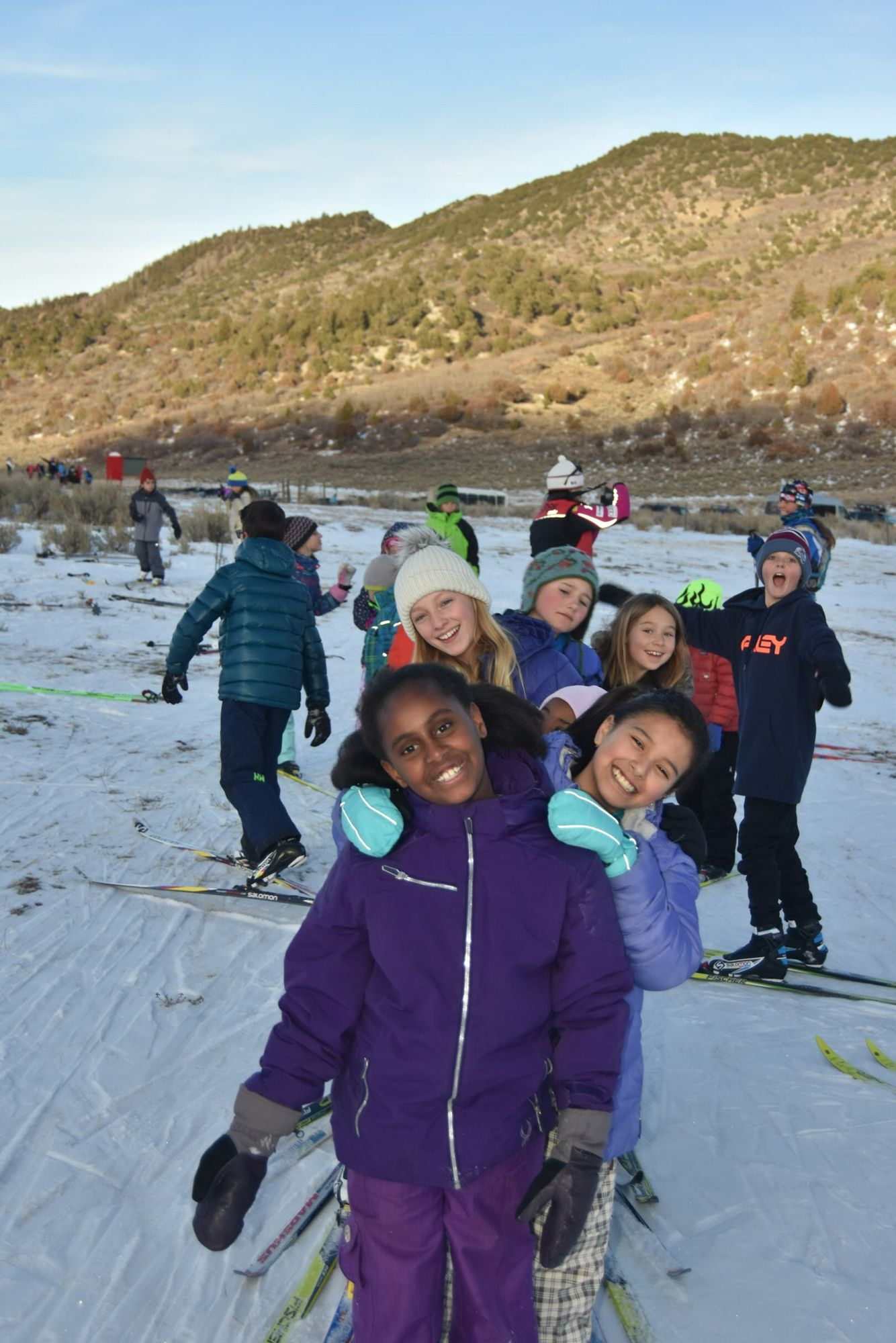 Bill Koch Youth Ski League athletes at Spring Gulch